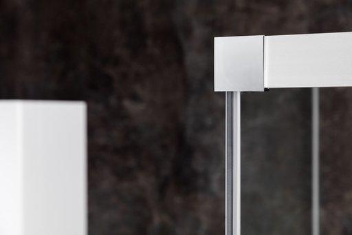 Душевой уголок Ravak MATRIX MSRV4-80/80, 800х800 мм, цвет профиля - блестящий, витраж - прозрачный, 1WV44C00Z1