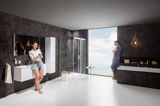 Зеркало Ravak RING, 1000х700 мм, цвет - серый, X000000778