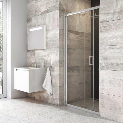 Душевая дверь Ravak BLIX BLDZ2-90 , 900 мм, цвет профиля - блестящий, витраж - прозрачный, X01H70C00Z1