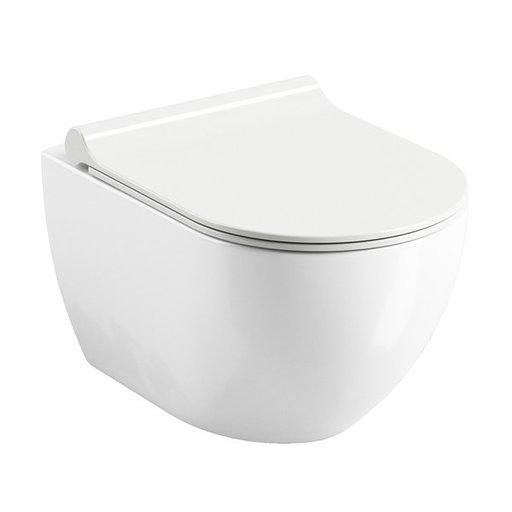 Унитаз подвесной безободковый RavakUni Chrome RimOFF  белый, X01535