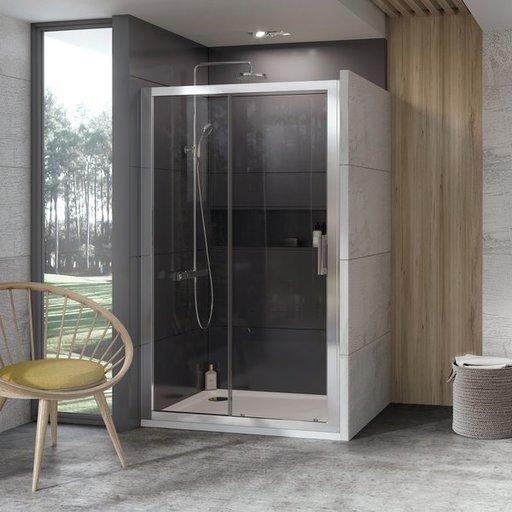 Душевая дверь Ravak 10° 10DP2-100, 1000 мм, цвет профиля - белый лак, витраж - прозрачный, 0ZVA0100Z1