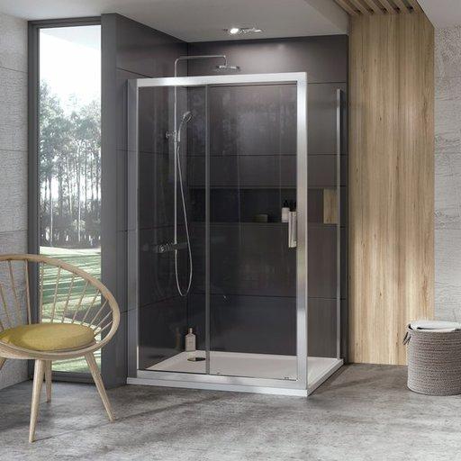 Душевая дверь Ravak 10° 10DP2-110, 1100 мм, цвет профиля - блестящий, витраж - прозрачный, 0ZVD0C00Z1