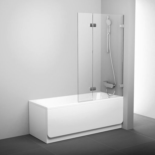 Шторка для ванны Ravak Brilliant BVS2-100 R, 1000 мм, цвет профиля - хром, витраж - прозрачный, 7UPA0A00Z1