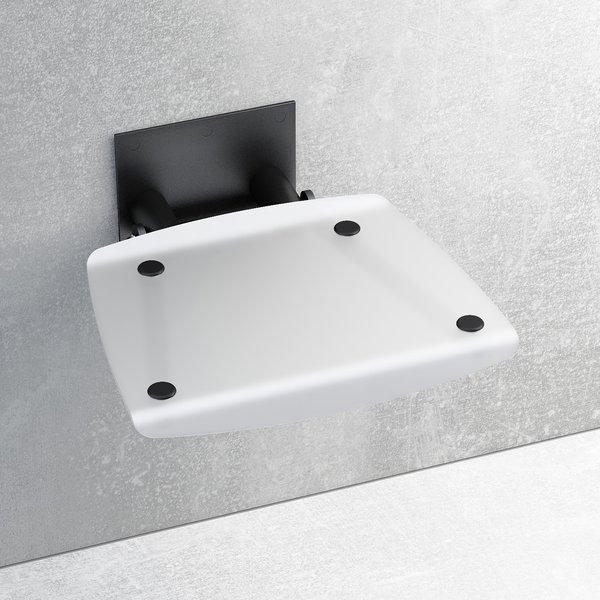 Универсальное сиденье для душа OVO-B-OPAL/BLACK, цвет белый, B8F0000046