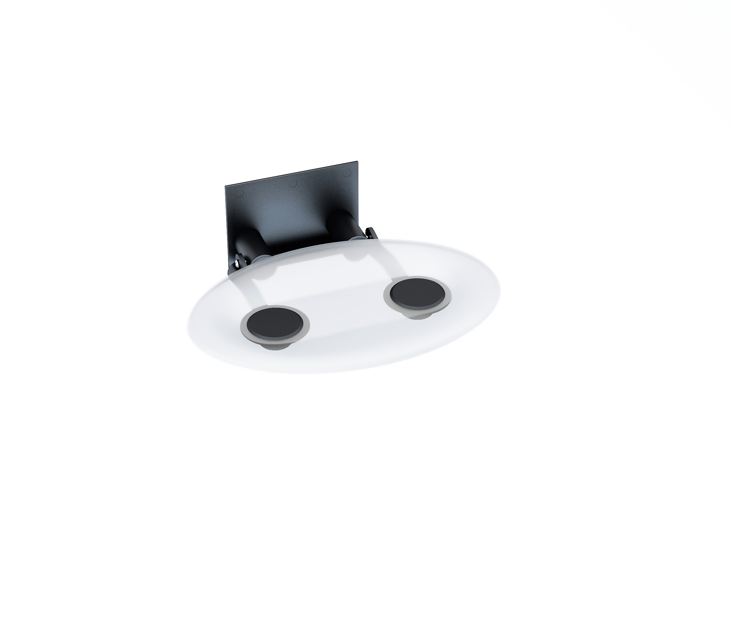 Универсальное сиденье для душа OVO-P-CLEAR/BLACK, цвет прозрачный, B8F0000042