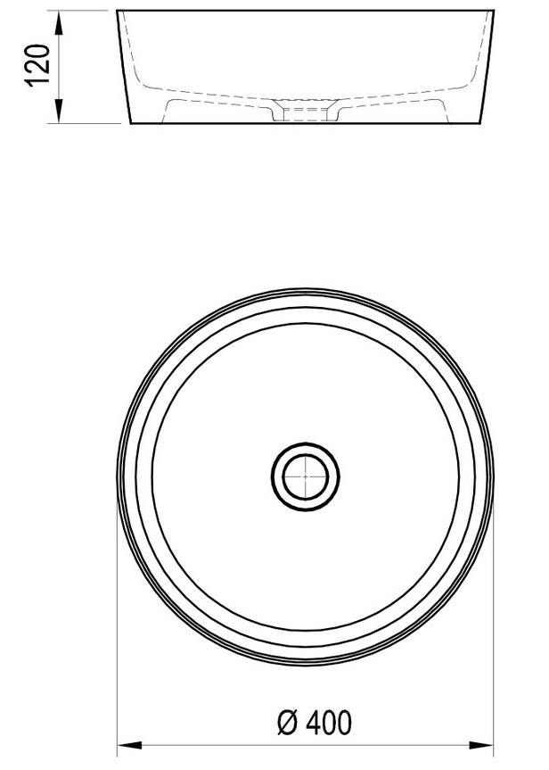 Умывальник UNI 400 керамический белый, XJX01140001