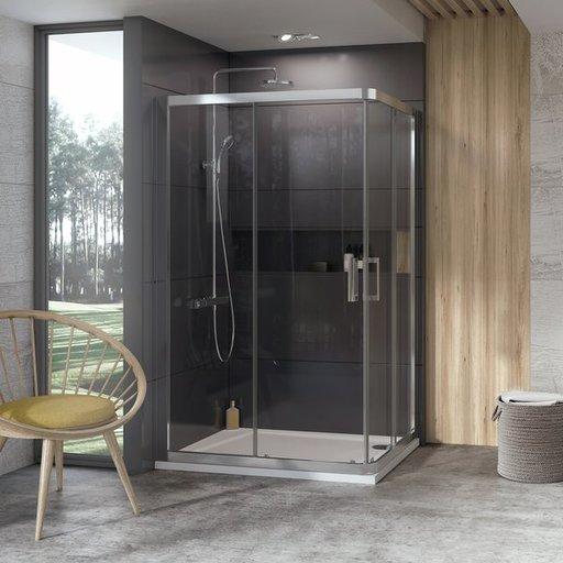Душевая дверь Ravak 10° 10RV2K-90 , 900 мм, цвет профиля - блестящий, витраж - прозрачный, 1ZJ70C00Z1