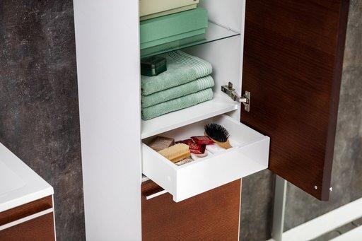 Шкаф боковой Ravak  SB 400 L Clear белая/вишня, X000000762 [Распродажа]