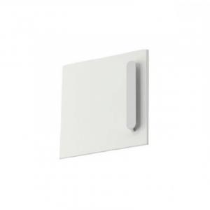 Дверь тумбы под умывальник SD 400 Chrome L белая, левая, X000000540