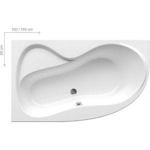 Ванна Ravak Rosa 95 160х95 асимметричная левая, C571000000