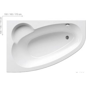 Ванна Ravak Asymmetric 160х10 асимметричная левая, C461000000
