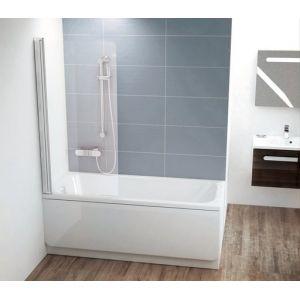 Шторка для ванны Ravak Chrome CVS1-80 R , 800 мм, цвет профиля - белый лак, витраж - прозрачный, 7QR40100Z1