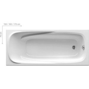 Ванна Ravak Vanda II 160х70 прямоугольная, CP11000000