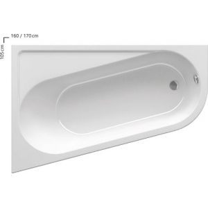 Ванна Ravak Chrome 160х100 асимметричная левая, CA51000000
