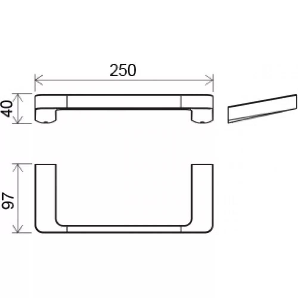 Полотенцедержатель (25 см) TD 300.00, X07P324