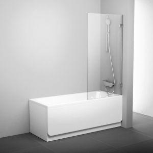 Шторка для ванны Ravak Brilliant BVS1-80, 800 мм, цвет профиля - хром, витраж - прозрачный, 7U840A00Z1