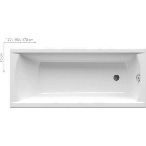 Ванна Ravak Classic 160х70 прямоугольная, C531000000
