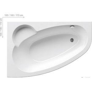Ванна Ravak Asymmetric 170х110 асимметричная левая, C481000000