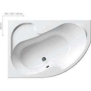 Ванна Ravak Rosa 140х105 асимметричная правая, CV01000000