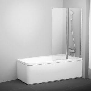Шторка для ванны Ravak 10° 10CVS2-100 L, 1000 мм, цвет профиля - белый лак, витраж - прозрачный, 7QLA0103Z1
