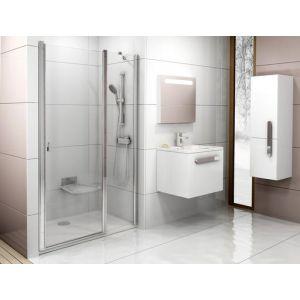 Душевая дверь Ravak Chrome CSD2-110, 1100 мм, цвет профиля - белый лак, витраж - прозрачный, 0QVDC100Z1