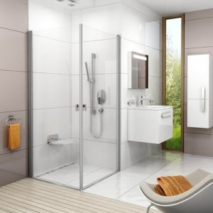 Душевая дверь Ravak Chrome CRV1-100, 1000 мм, цвет профиля - белый лак, витраж - прозрачный, 1QVA0101Z1
