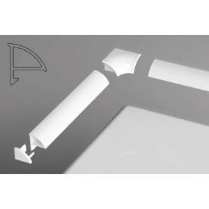 Универсальная декоративная планка 6/1100 белая 1100 мм, XB441100001