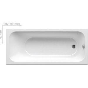 Ванна Ravak Chrome 170х75 прямоугольная, C741000000