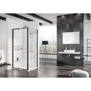 Душевая дверь Ravak Pivot PDOP1-90, 900 мм, цвет профиля - черный, витраж - прозрачный, 03G70300Z1