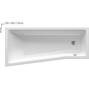 Ванна Ravak BE HAPPY II 160х75 асимметричная левая, C961000000